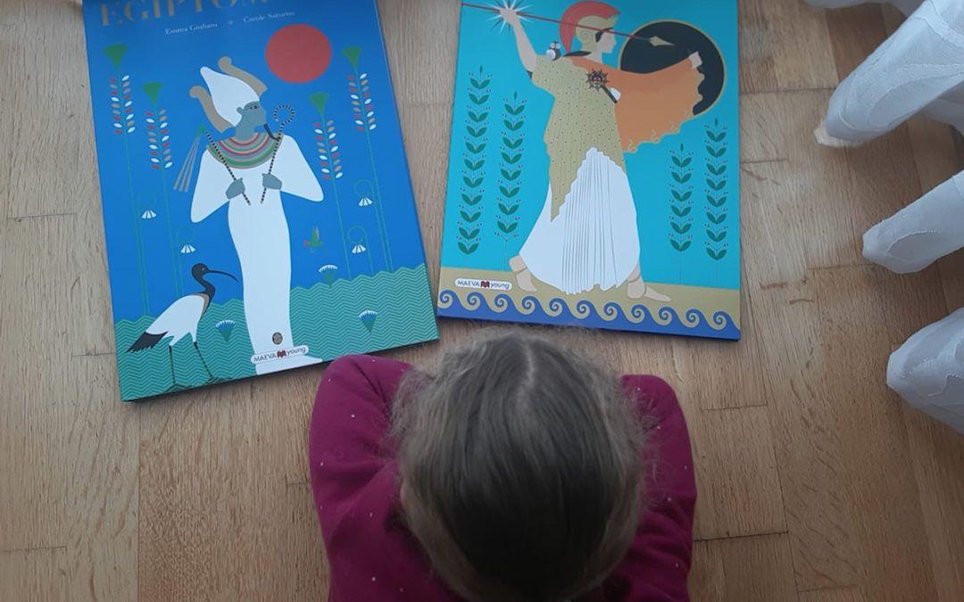 'Egiptomanía' y 'Grecomanía'. Libros para que los niños observen el pasado