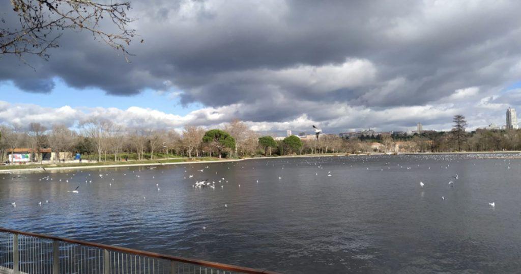 el lago de la casa de campo