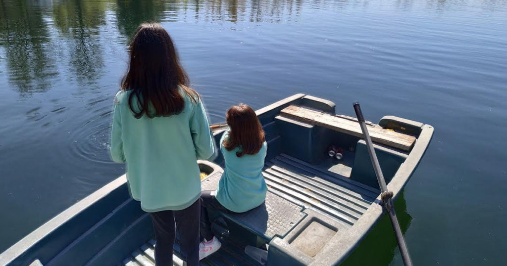 las barcas en las lagunas madres