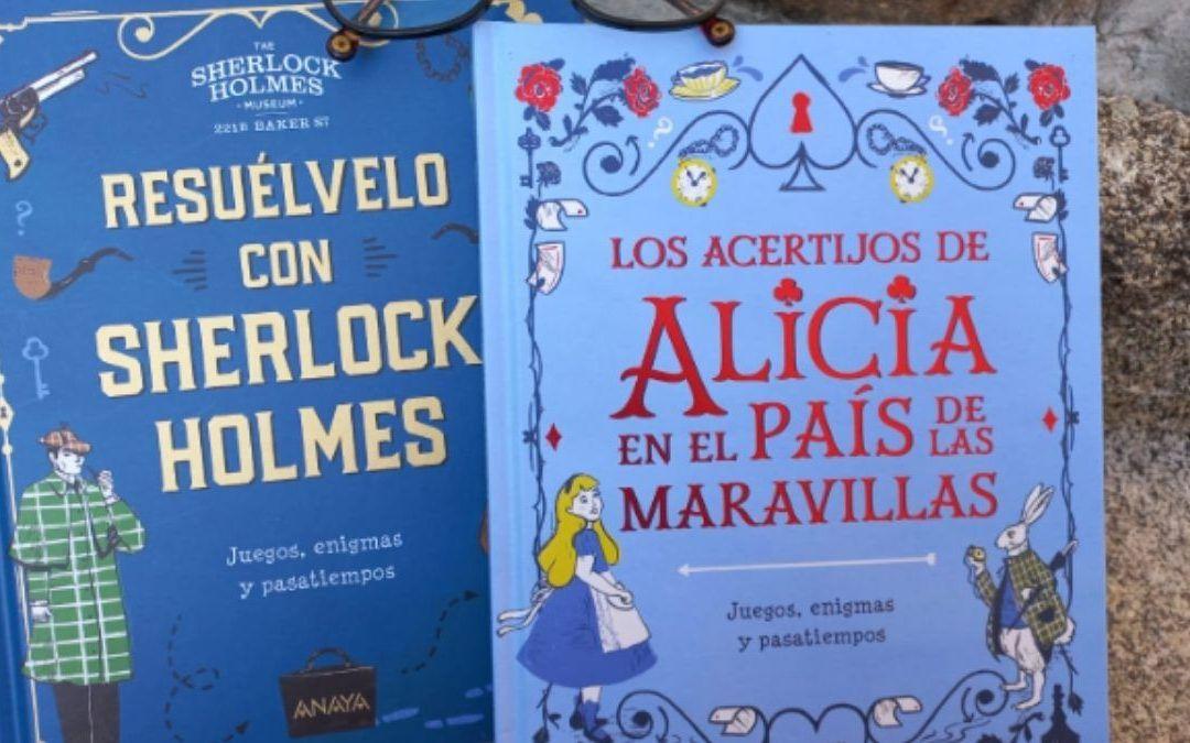 Juegos y enigmas con Sherlock Holmes y Alicia en el País de las Maravillas para niños
