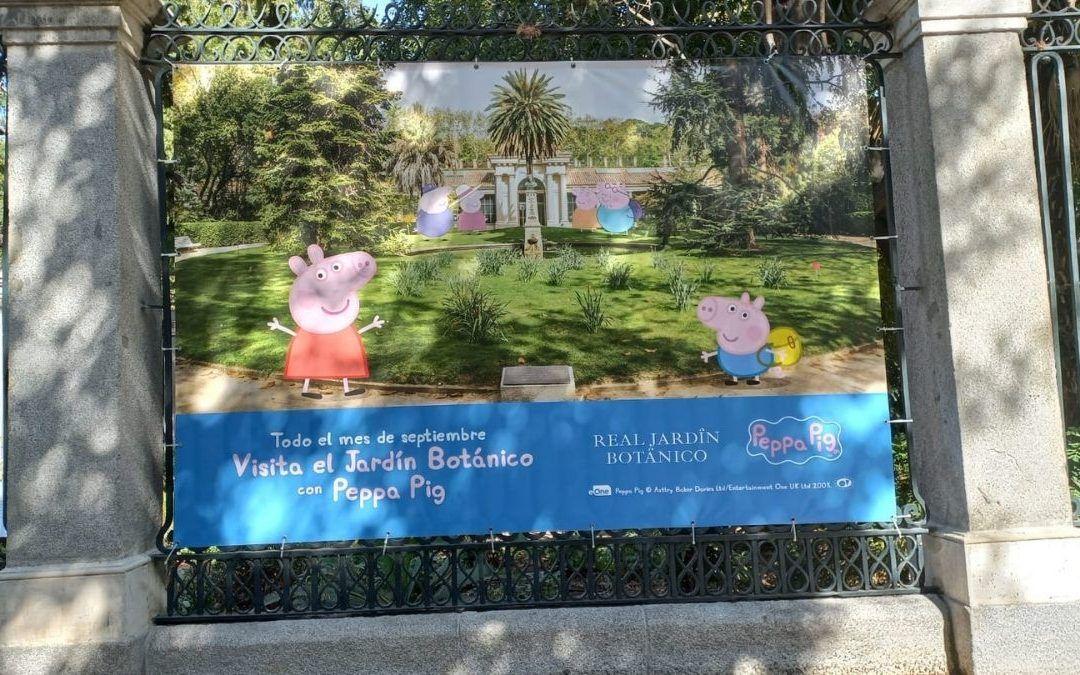 Visitamos el Jardín Botánico en familia con Peppa Pig